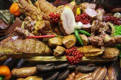 肉类柜台 库存图片