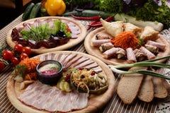 肉Peaces与蔬菜的 库存照片