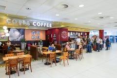 肋前缘咖啡咖啡馆 免版税库存图片
