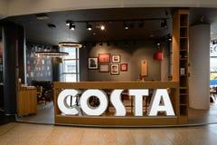 肋前缘咖啡咖啡馆 免版税图库摄影