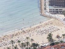 肋前缘布朗卡海滩的人们  免版税库存照片