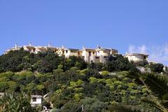肋前缘意大利rei撒丁岛视图村庄 图库摄影