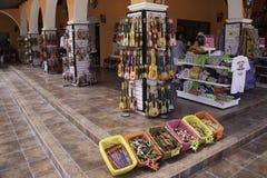 肋前缘玛雅人墨西哥购物 免版税库存照片