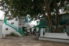 肋前缘的特吉塞,兰萨罗特岛渔村 免版税库存图片