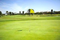 肋前缘的Ballena,花名册,卡迪士省,西班牙高尔夫球场 库存照片