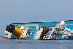 肋前缘Concordia游轮海难 库存图片