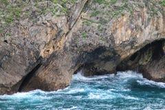 肋前缘de利亚内斯,阿斯图里亚斯,西班牙 免版税库存照片