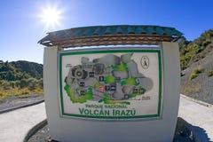 肋前缘irazu nacional volcan parque的rica 免版税图库摄影