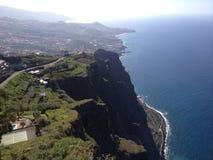 肋前缘na ilha在马德拉岛海岛上的da马德拉岛岸 免版税库存照片