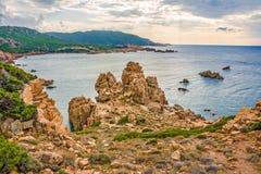 肋前缘Paradiso,撒丁岛 免版税图库摄影