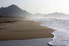 肋前缘Rei海滩在撒丁岛 免版税库存照片