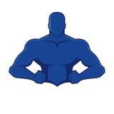 肌肉人形象 免版税库存图片