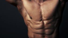 肌肉人的身体 库存图片