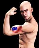 肌肉人美国6 免版税库存照片