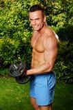 肌肉人锻炼 免版税图库摄影