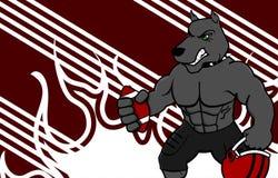 肌肉公牛橄榄球制服背景 免版税库存图片