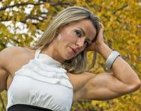肌肉和迷人 库存照片