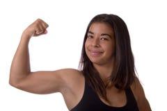 肌肉妇女 免版税库存图片
