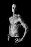 肌肉年轻人 图库摄影