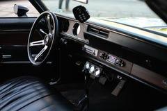 肌肉汽车内部  免版税图库摄影