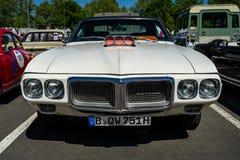 肌肉汽车庞蒂克火鸟, 1969年 免版税库存照片