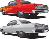 肌肉汽车Sideview 免版税图库摄影