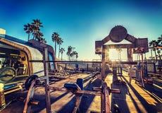 肌肉海滩在洛杉矶 库存照片