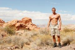 肌肉的人 免版税库存照片