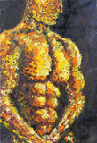 肌肉的人 免版税库存图片