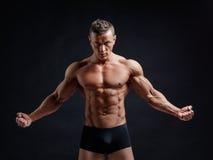 肌肉的机体 库存照片