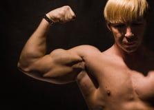 肌肉的爱好健美者 库存图片