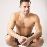 肌肉美好的同性恋模型 免版税图库摄影