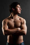 肌肉英俊的人 库存照片