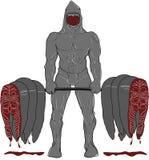 肌肉鲨鱼前面 免版税库存照片