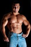 肌肉年轻人 库存图片