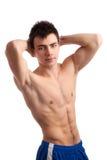 肌肉年轻人 库存照片