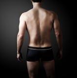 肌肉年轻性感的英俊的人 库存照片