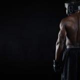 肌肉年轻男性拳击手 免版税图库摄影