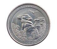肖尼纪念四分之一硬币 图库摄影