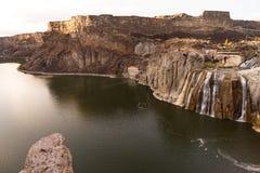 肖松尼人跌倒斯内克河爱达荷峡谷小山美国 免版税库存照片