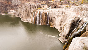 肖松尼人跌倒爱达荷西北美国斯内克河峡谷 免版税图库摄影