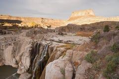 肖松尼人跌倒爱达荷西北美国斯内克河峡谷 免版税库存照片