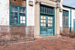 肖松尼人,爱达荷火车站建筑学细节 免版税库存照片