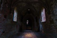 肖林修道院的一个老,未恢复的部分 库存图片