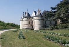 肖蒙城堡在法国 库存图片