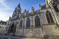 肖蒙,法国大教堂  免版税图库摄影