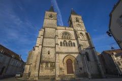 肖蒙,法国大教堂  库存照片