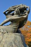 肖邦纪念碑在华沙(波兰) 库存照片
