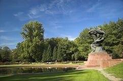 肖邦纪念碑 库存照片