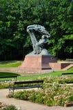 肖邦雕象- Lazienki公园 免版税库存照片